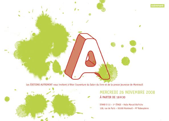 Invitation l inauguration du salon du livre et de la presse jeunesse de montreuil 2008 alice - Invitation salon du livre ...